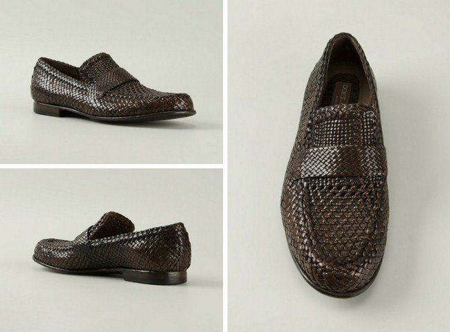Dolce & Gabbana woven loafers
