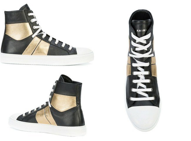 Amiri contrast-panel hi-tops
