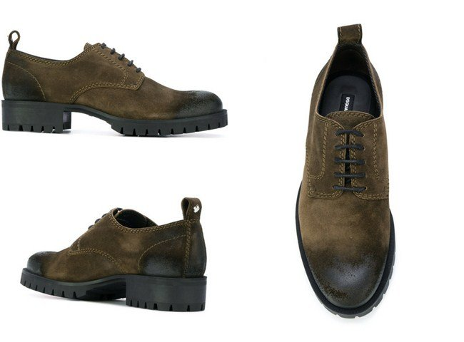 DSQUARED2 two tone derby shoes