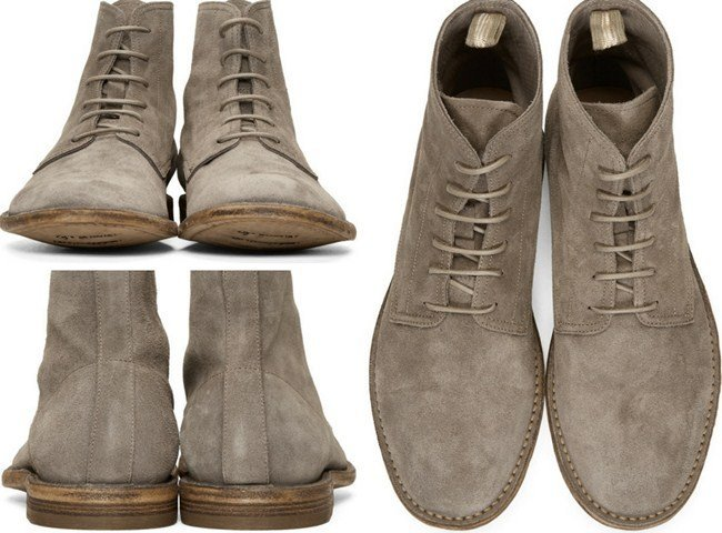 Officine Creative Tan Suede Standard Boots