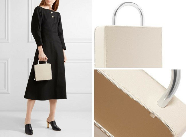 BUILDING BLOCK Box textured-leather tote