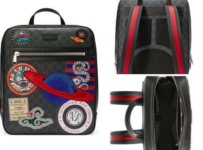 Gucci GG Supreme Backpack with Travel Patches