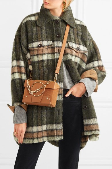 Yuzefi Charming Asher Small Leather And Suede Shoulder Bag