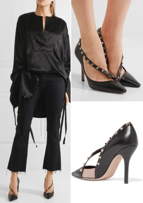 Valentino Sophisticated Rockstud two-Tone Leather Pumps