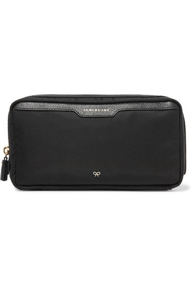 ANYA HINDMARCH Suncreams leather-trimmed shell easy-to-carry cosmetics case