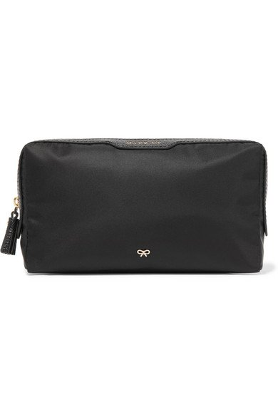 ANYA HINDMARCH Make Up small leather-trimmed shell essential cosmetics case