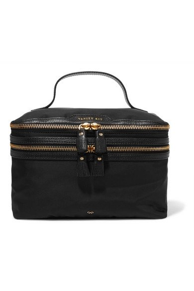 ANYA HINDMARCH girly Vanity Kit leather-trimmed cosmetics case