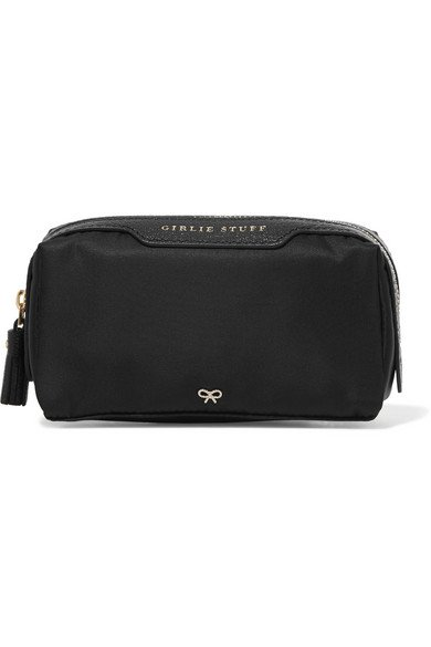 ANYA HINDMARCH Girlie Stuff leather-trimmed shell sleek cosmetics case