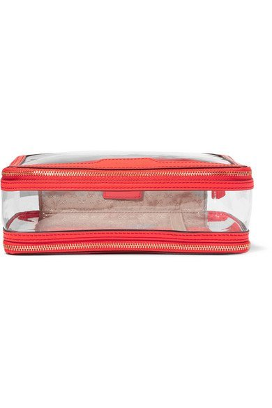 ANYA HINDMARCH Inflight leather-trimmed Perspex durable cosmetics case