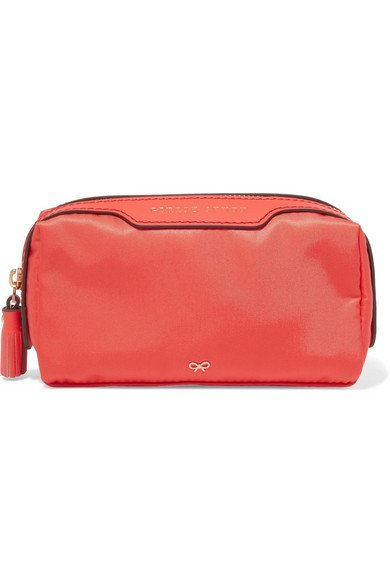 ANYA HINDMARCH Girlie Stuff leather-trimmed shell lovely cosmetics case