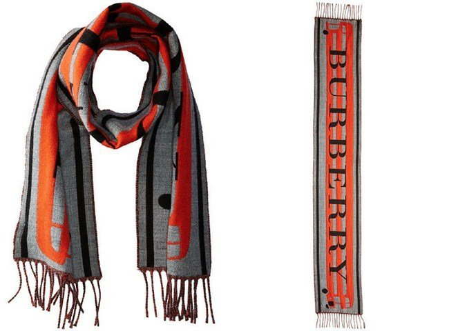 Burberry Kids Branded Bus Jaqcuard Scarf