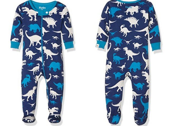 Hatley Baby Boys' Silhouette Dinos Footed Coverall