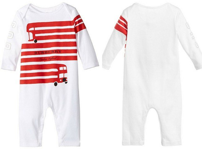 Burberry Kids Red Bus Graphic Overall