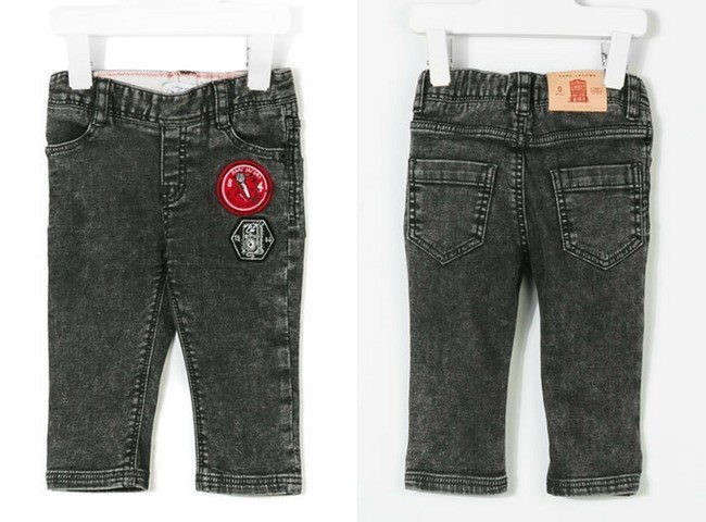 Little Marc Jacobs patched stretch jeans