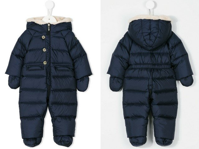 Il Gufo hooded padded snowsuit