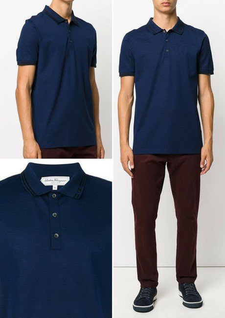 SALVATORE FERRAGAMO short-sleeve polo shirt