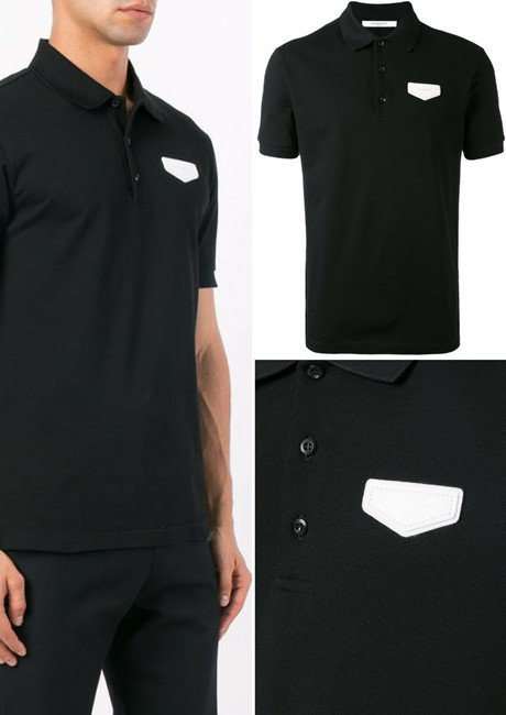 GIVENCHY logo patch polo shirt