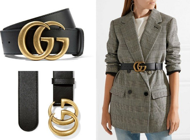 GUCCI BEAUTIFUL BLACK LEATHER BELT