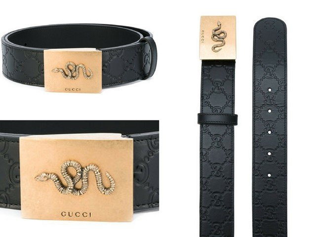 GUCCI snake buckle belt