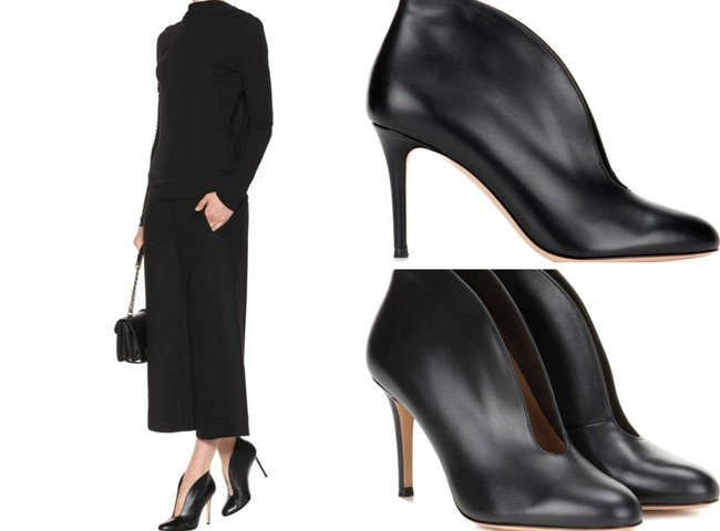 GIANVITO ROSSI Vamp leather ankle boots