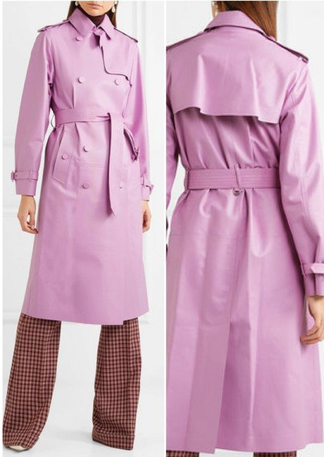 VALENTINO GORGEOUS LEATHER TRENCH COAT