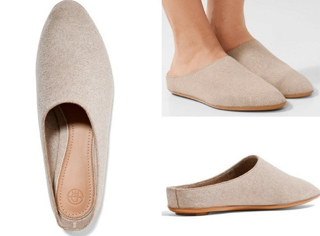 The Row Bea Beautiful Cashmere Slippers