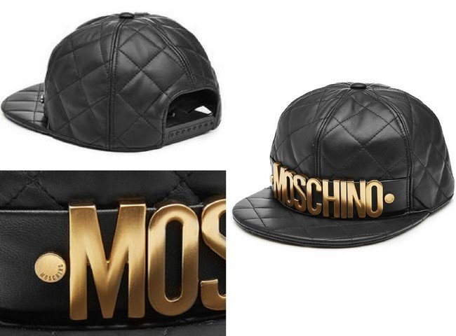 MOSCHINO Quilted Leather Baseball Cap