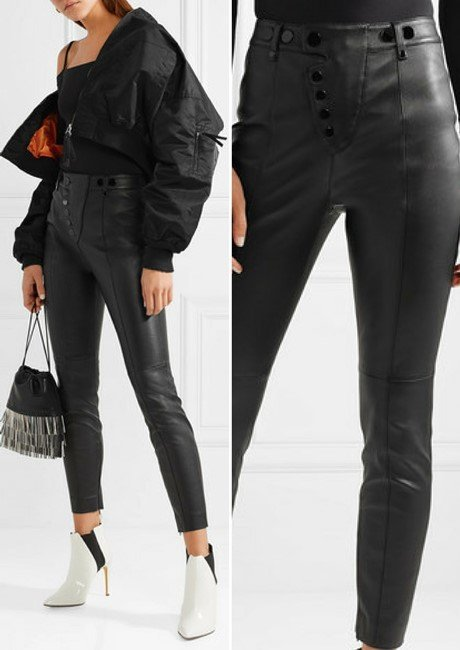 Alexander Wang Sleek Stretch-Leather Leggings