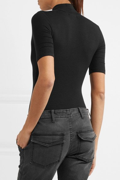 ATM ANTHONY THOMAS MELILLO Ribbed stretch-Micro Modal bodysuit 4