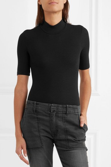 ATM ANTHONY THOMAS MELILLO Ribbed stretch-Micro Modal bodysuit 3