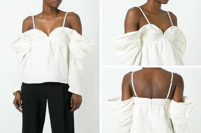JW ANDERSON OFF-SHOULDERS BLOUSE