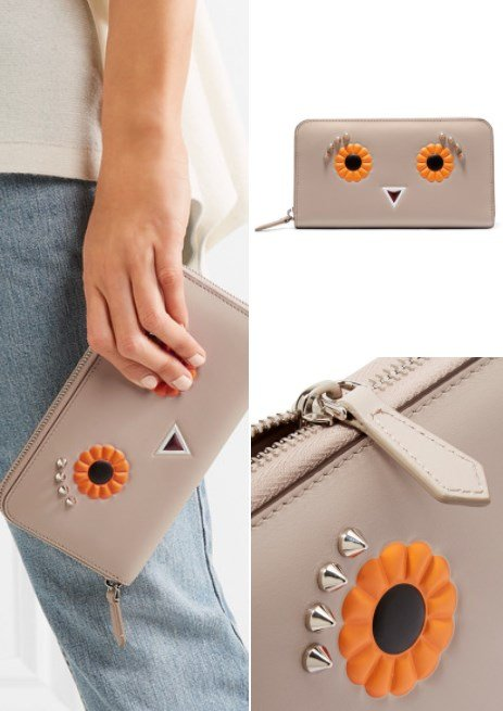 Fendi Studded Leather Wallet