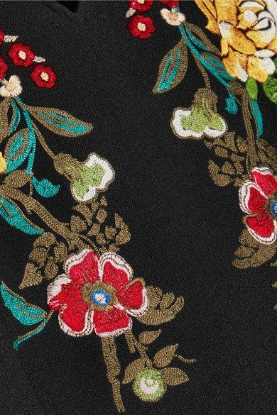 ETRO Embroidered crepe dress 5