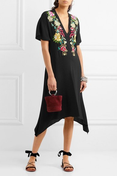 ETRO Embroidered crepe dress 2