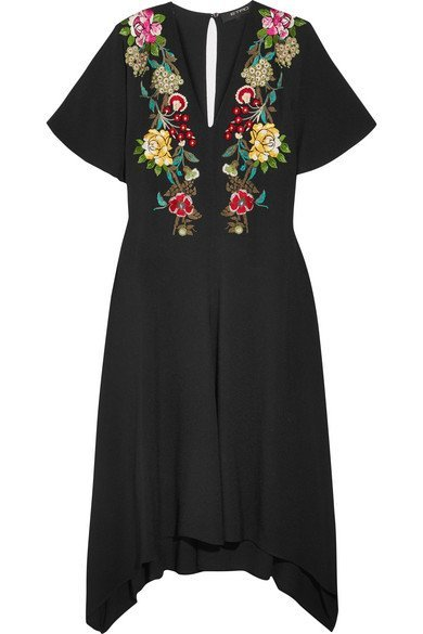 ETRO Embroidered crepe dress