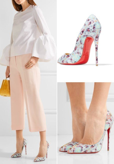 CHRISTIAN LOUBOUTIN PIGALLE FOLLIES 120 PRINTED PYTHON PUMPS