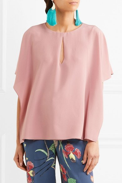 ETRO Ruffled silk crepe de chine blouse 6