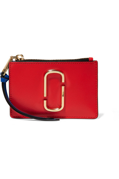 MARC-JACOBS-Snapshot-color-block-textured-leather-wallet
