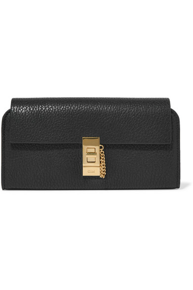 CHLOÉ-Drew-textured-leather-wallet
