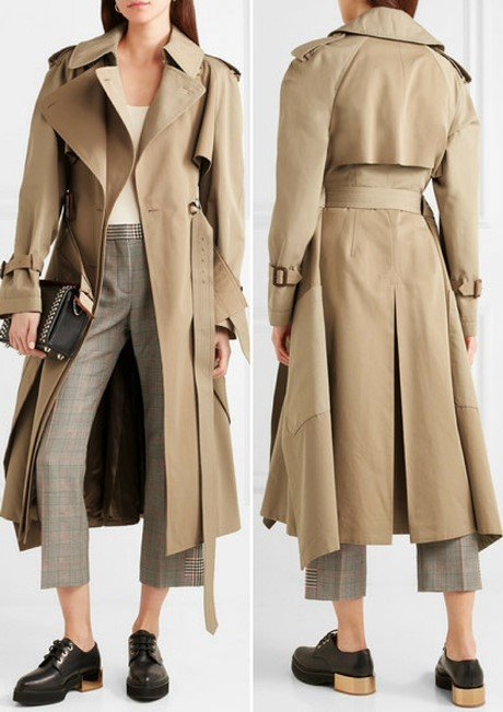 ALEXANDER MCQUEEN Cotton-garbadine trench coat