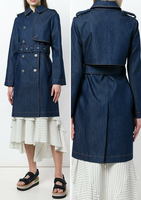 STELLA MCCARTNEY denim trench coat