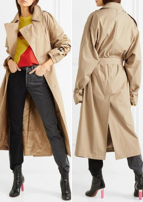 VETEMENTS + Mackintosh gabardine trench coat