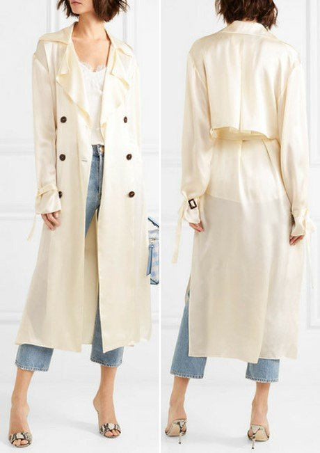 MAGDA BUTRYM Punta Cana hammered silk-satin trench coat