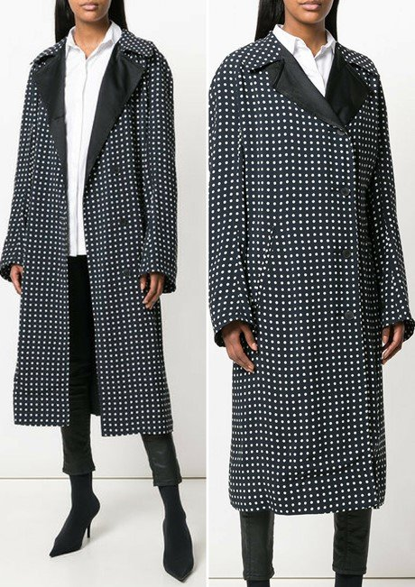 HAIDER ACKERMANN polka dot coat