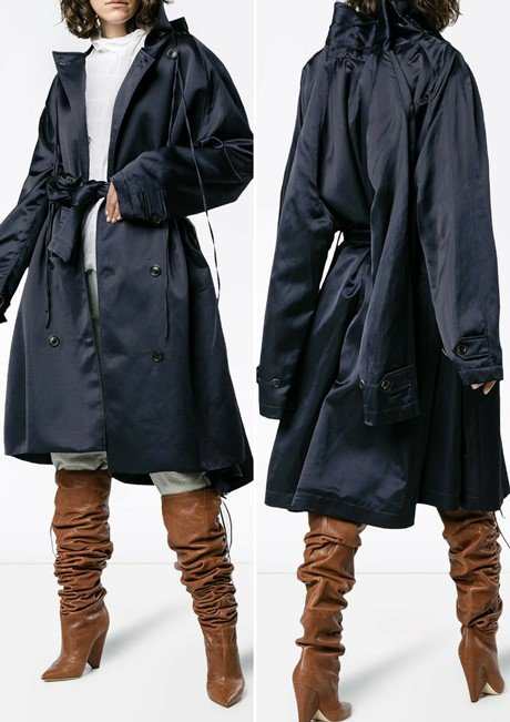 Y PROJECT Double breasted trench coat