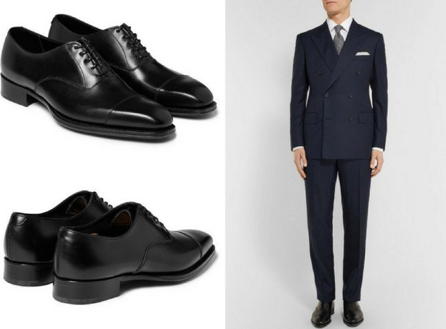 KINGSMAN+ George Cleverley Leather Oxford Shoes