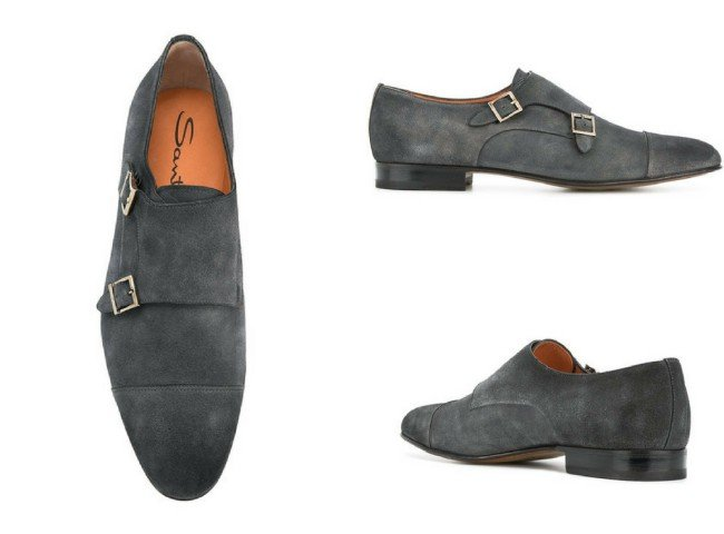 SANTONI Vintage Doppel monk shoes