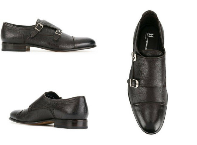MORESCHI classic monk shoes