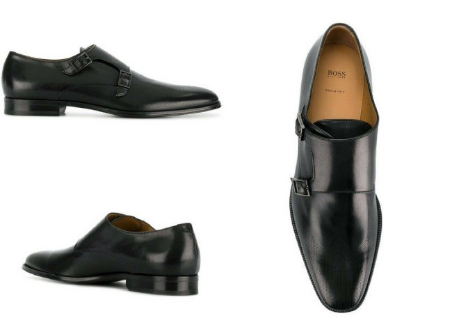 BOSS HUGO BOSS formal monk shoes