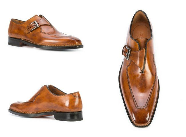 BONTONI Brillatina monk shoes